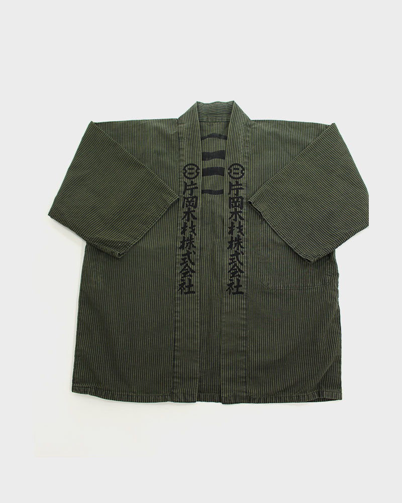 Overdyed Vintage Happi Jacket, Military Green