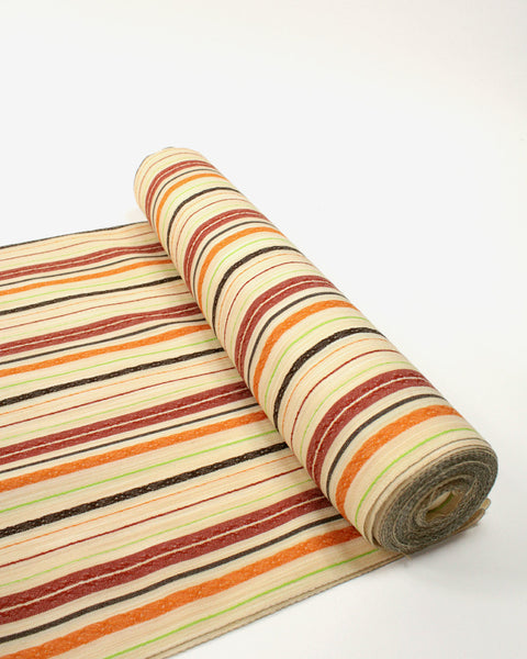 Vintage Fabric Red and Orange Stripe Pattern