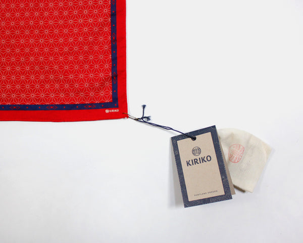 Handkerchief Asanoha Red