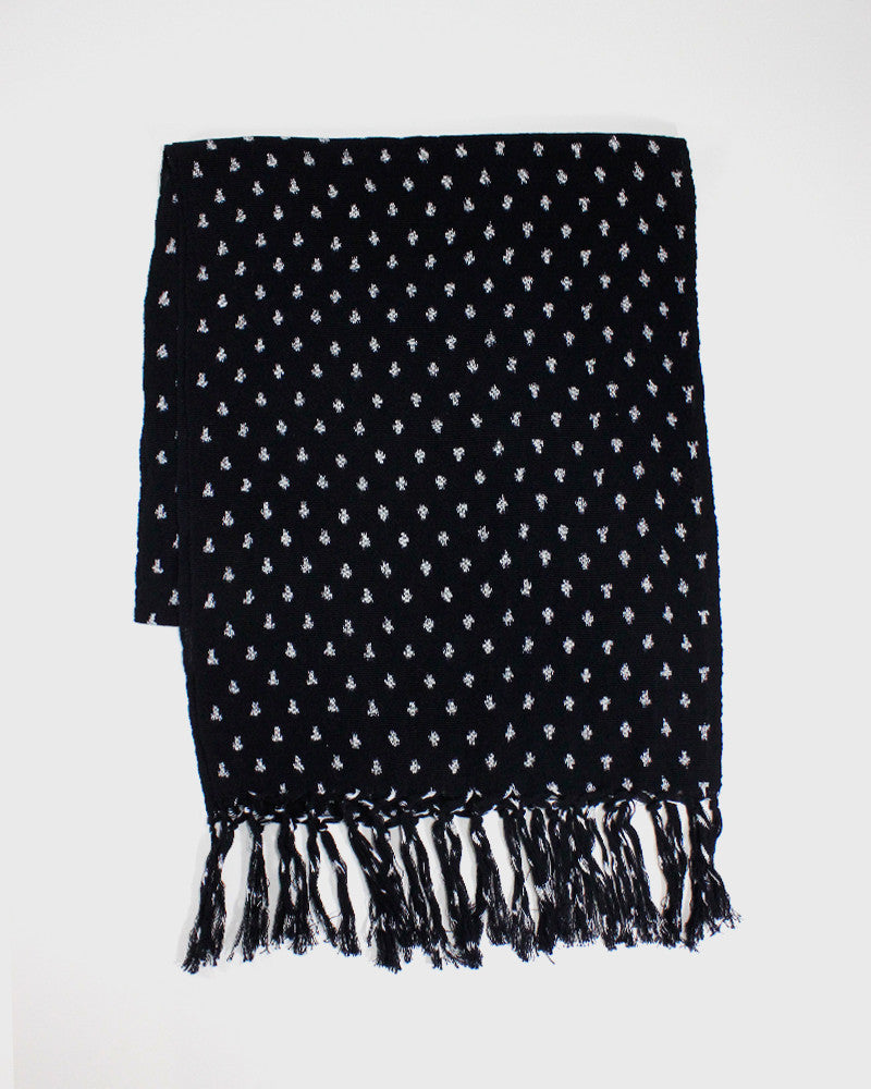 Karu-Ori Dark Navy Dot Scarf