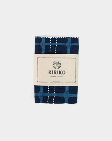 Pocket Square Navy Blue Koushi Sashiko