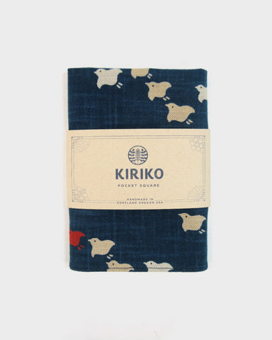 Pocket Square Indigo Chidori