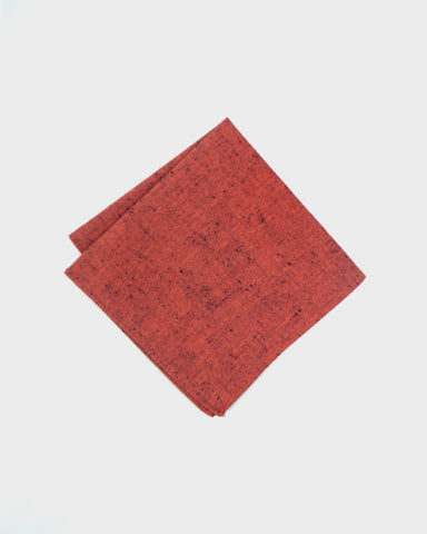 Pocket Square Red Chambray