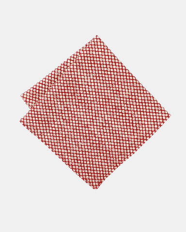 Pocket Square Red Shibori Print