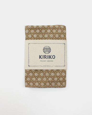 Pocket Square Gold Asanoha