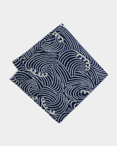 Pocket Square Indigo Nami