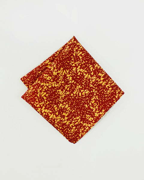 Pocket Square Kimono Burgundy Leaves
