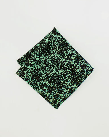 Pocket Square Kimono Green Leaves