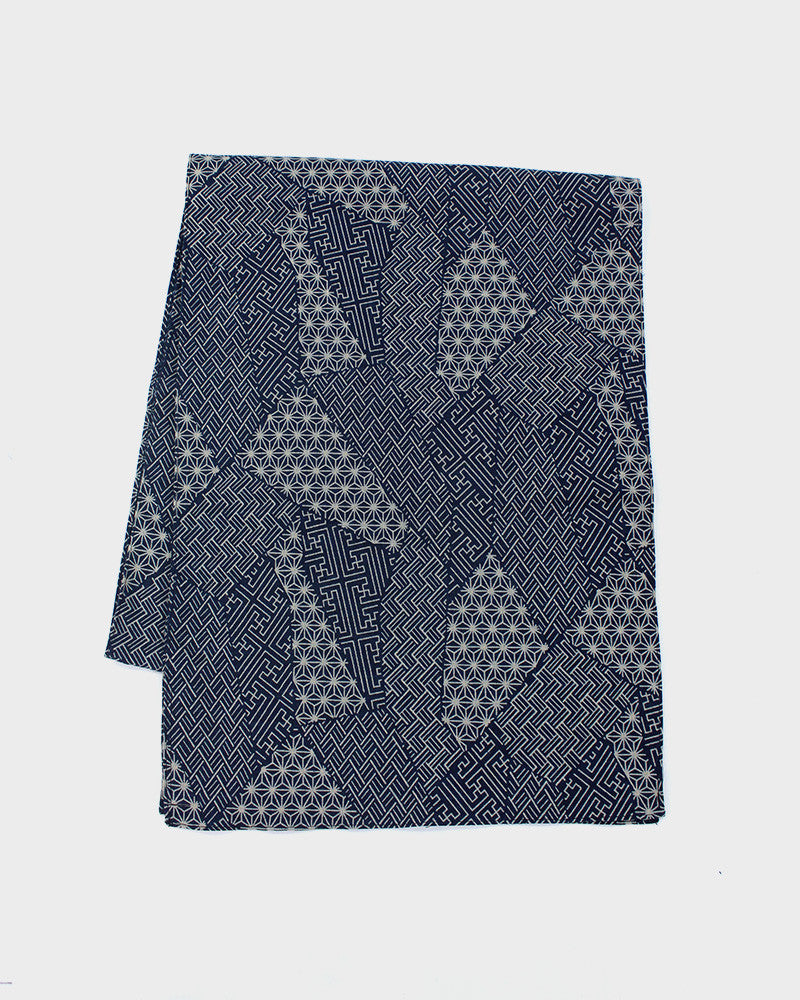 Indigo Small Multi Pattern Scarf