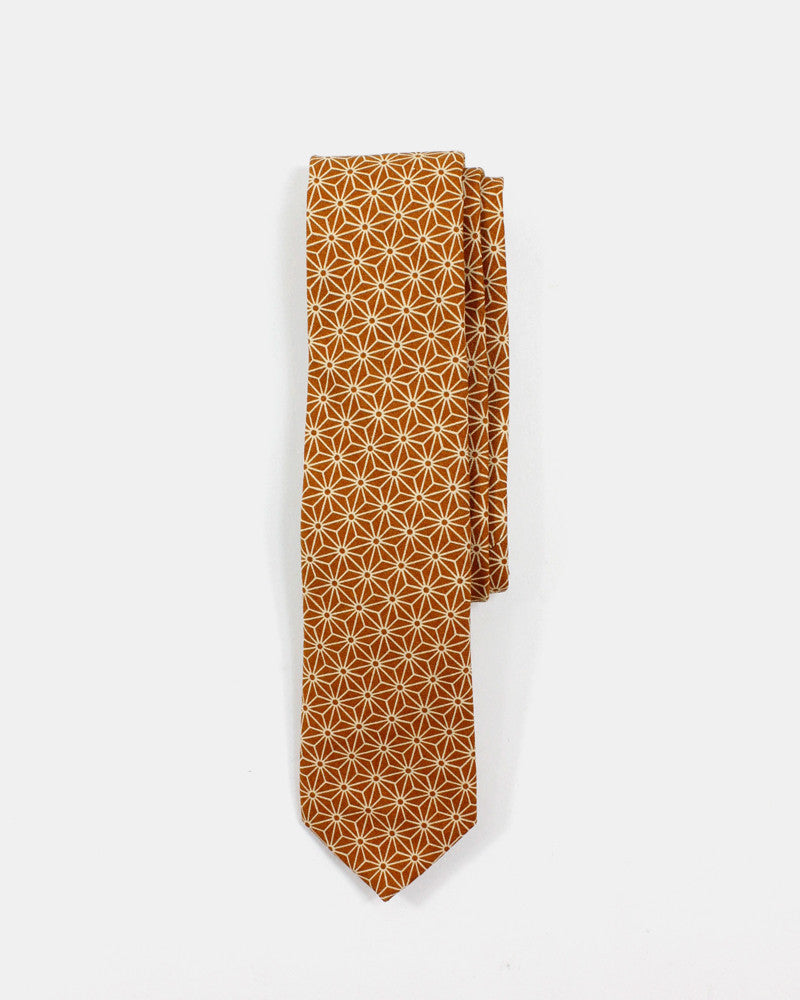 Tie Asanoha Orange