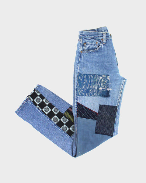 "One of a Kind Patched Vintage Levi's 501, ""Sashiko"""