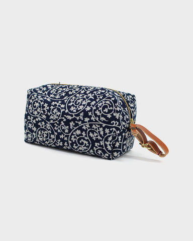 Dopp Kit, Indigo Vines