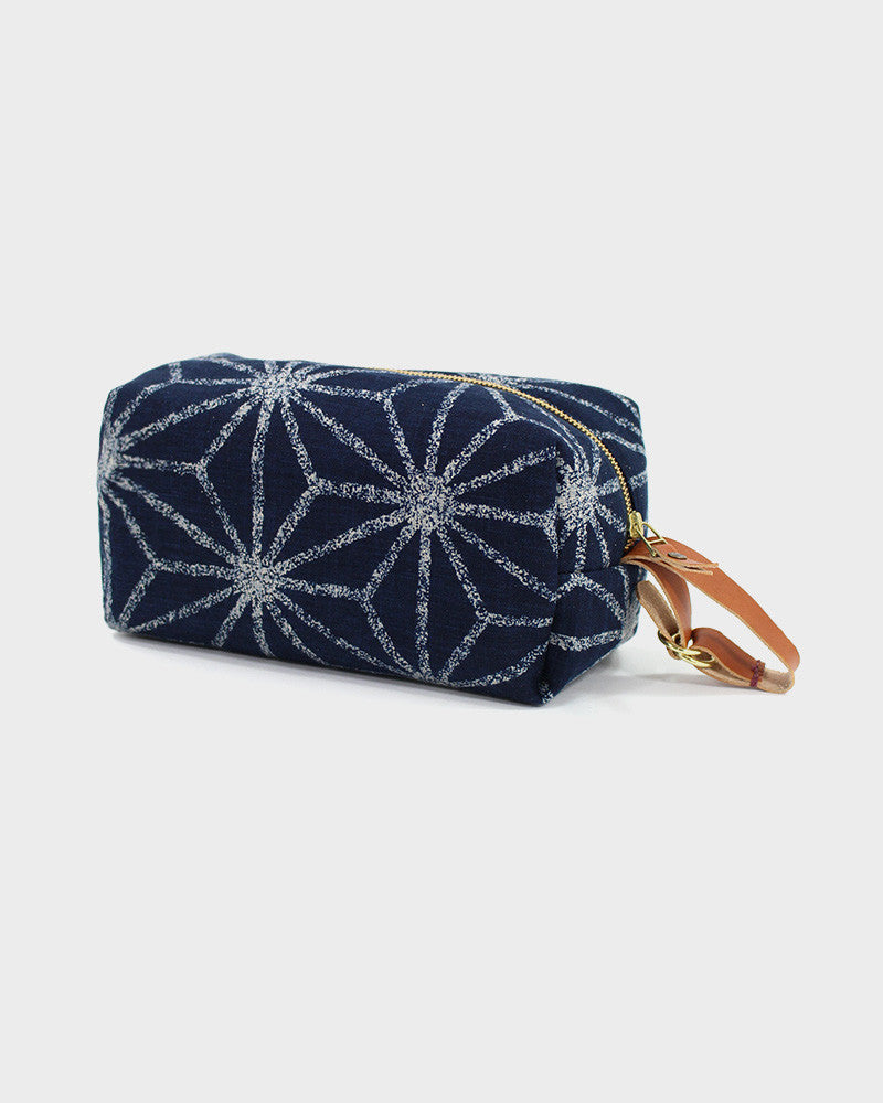 Dopp Kit, Indigo Large Asanoha