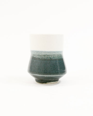 Kelly Pottery, Split Yunomi Blue White