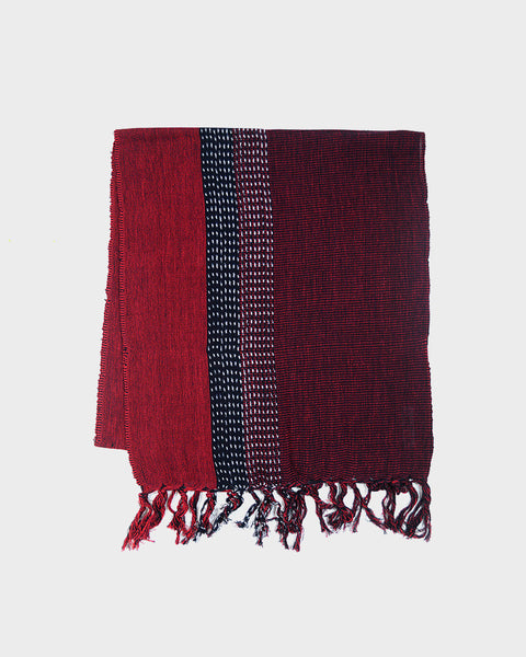 Karu-Ori Red Split Dash Scarf