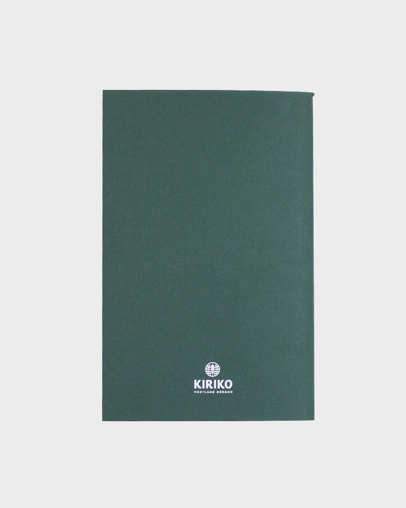 Lined Notebook, Green Kumo