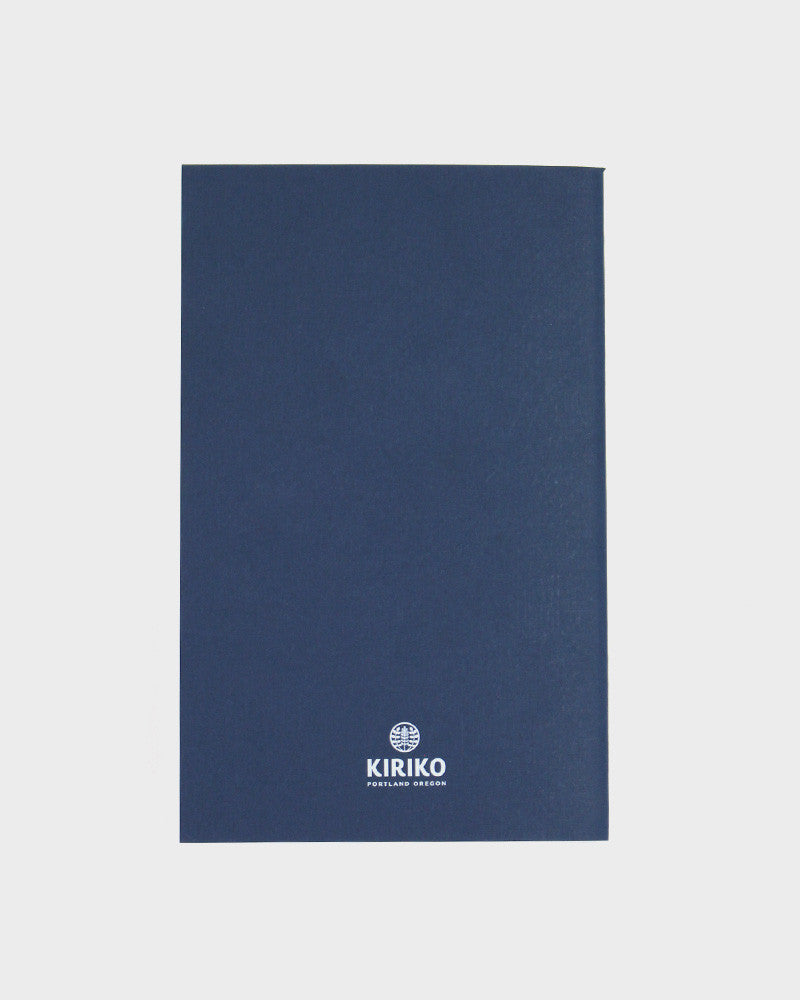 Grid Notebook, Blue Seigaiha