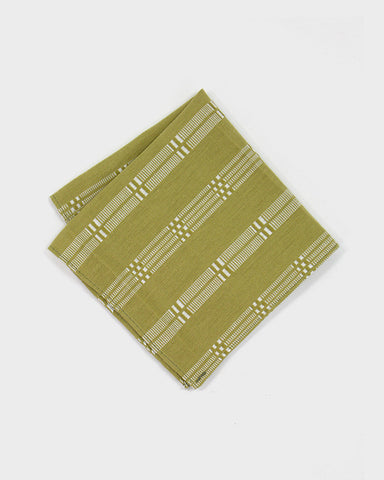 Pocket Square Lime Shuri-Ori