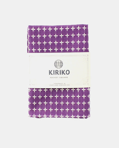 Pocket Square Sashiko Purple