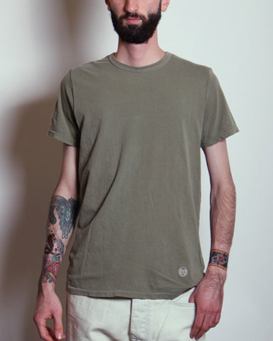 Embroidered Logo Tee Olive