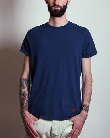 Embroidered Logo Tee Navy