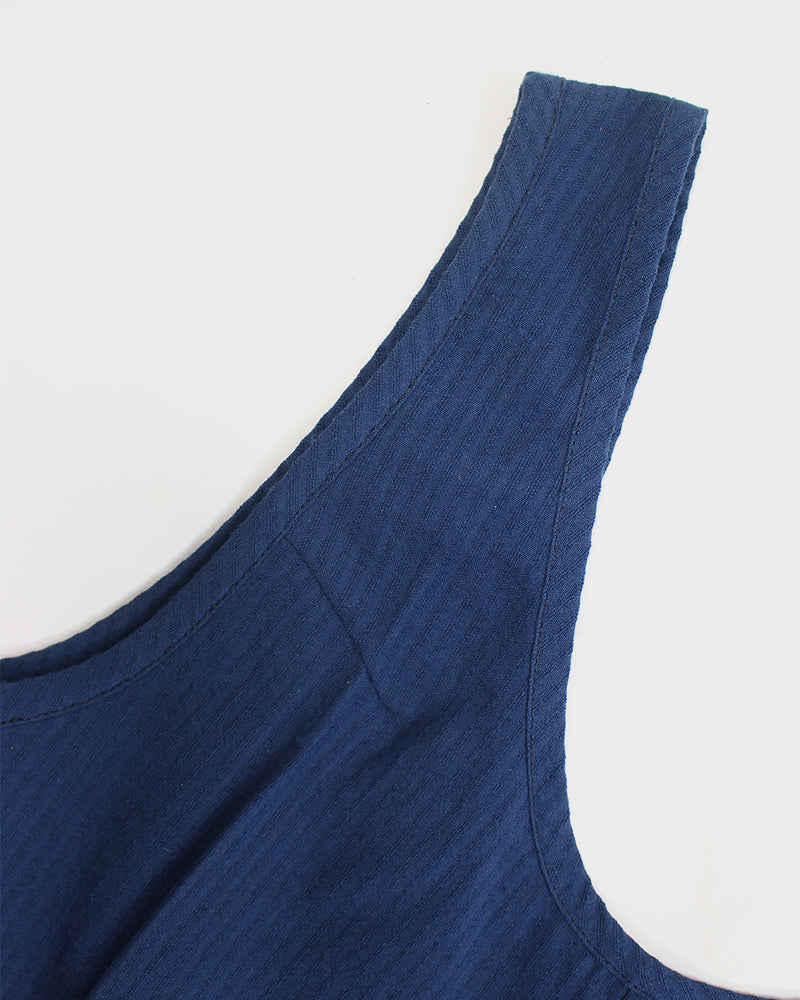 Jumper, Indigo with Faded Shima