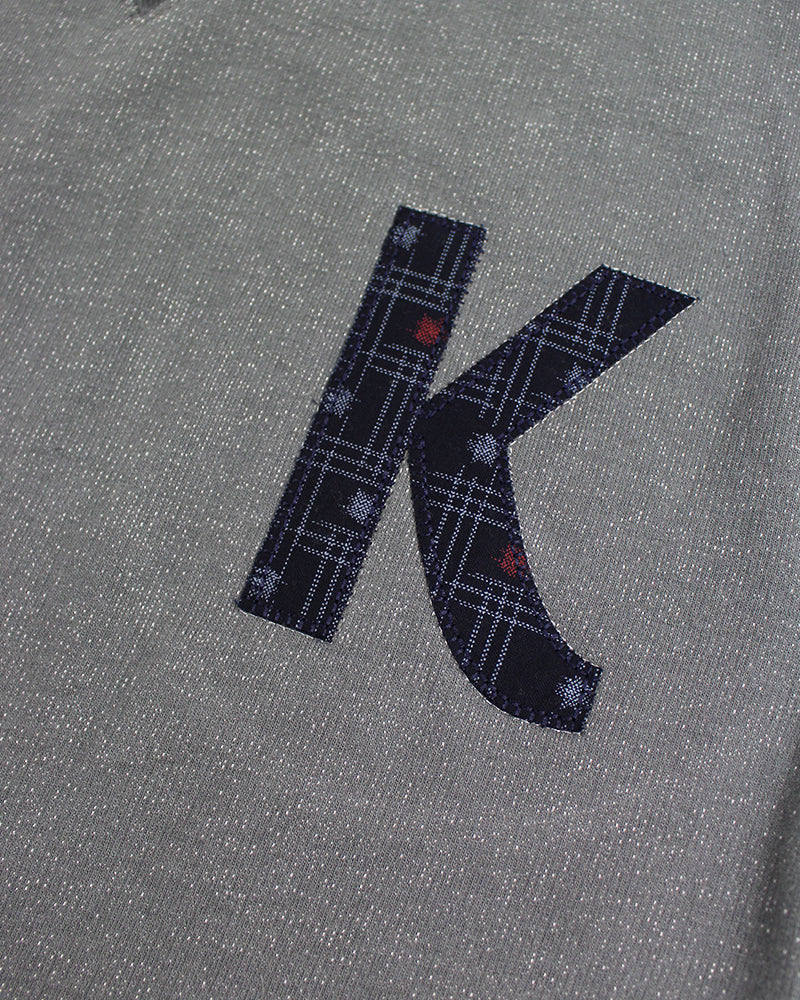 Patched Grey 'K' Sweatshirt