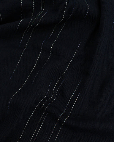 Karu-Ori Navy Blue and White Stitches