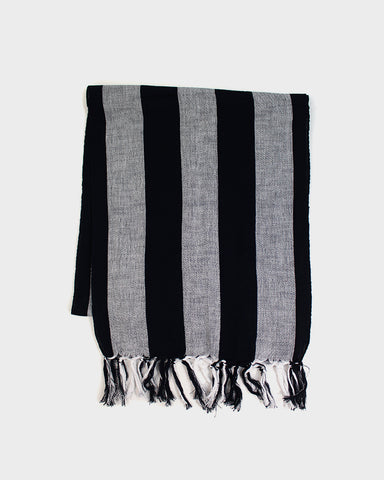 Karu-Ori Dark Navy and White Stripes Scarf