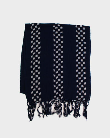 Karu-Ori Dark Navy, and Checker Stripes Scarf