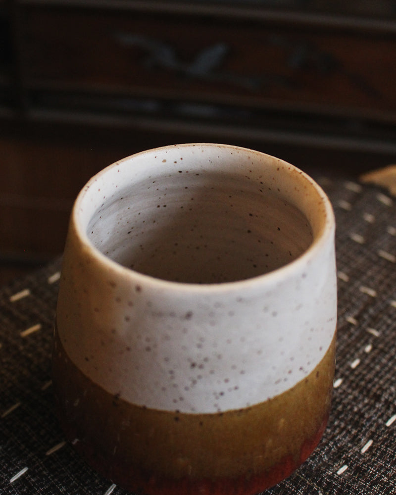Kelly Pottery, Yunomi Dipped, Speckled, Hazel