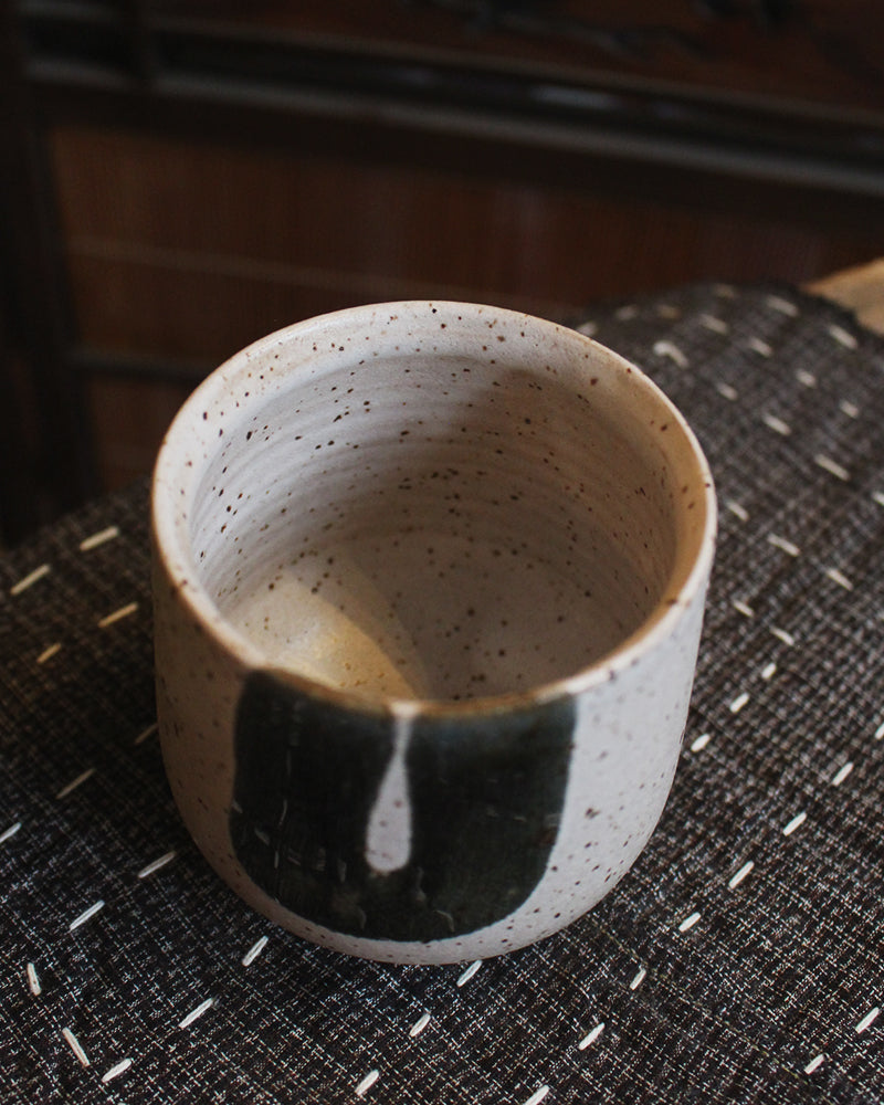 Kelly Pottery, Hand Painted Speckled Yunomi