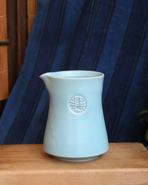 Kelly Pottery, Short Light Blue Ceramic Coffee Pot