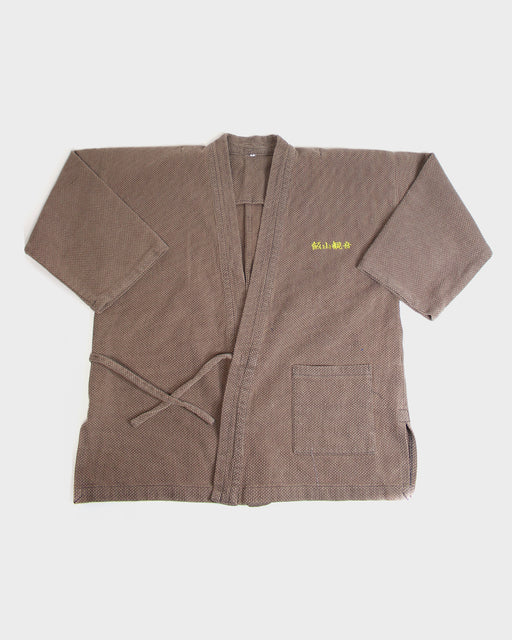 Samue Jacket with Kendo Fabric, Light Brown, Iiyama Kan-non