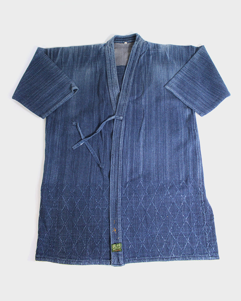 Vintage Kendo Jacket, Washed Indigo