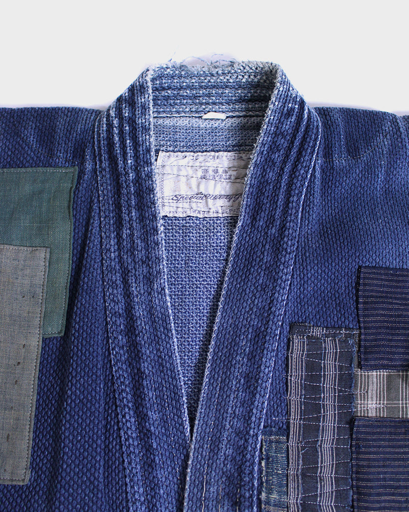 Patched Kendo Jacket, Okubo, Boro Patched with Darning Stitches