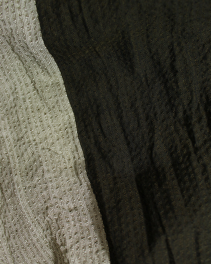 Kiji Scarf with Shijira Weave, Dark Brown and Light Grey