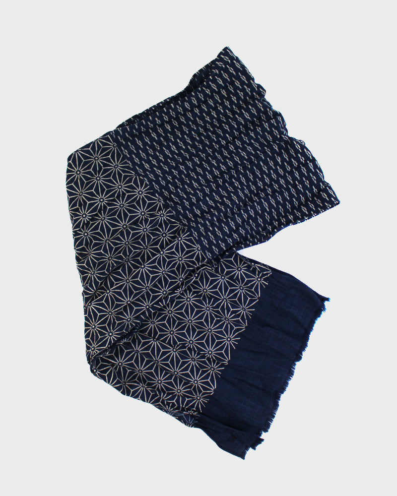 Kiji Scarf With Asanoha & Dashes
