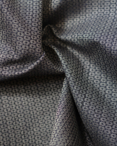 Vintage Fabric Grey Honeycombs
