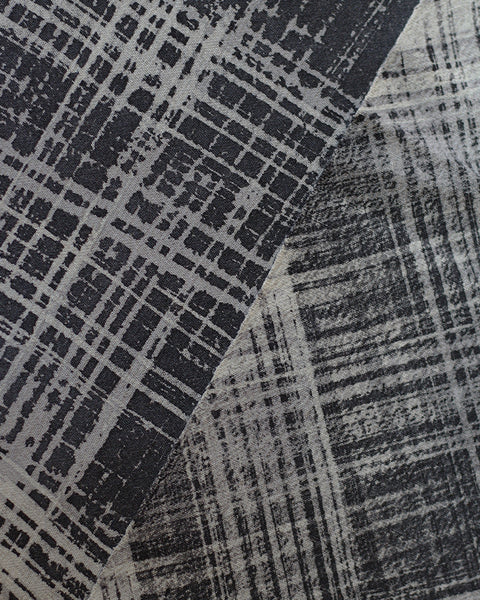 Vintage Fabric Gray Crosshatch