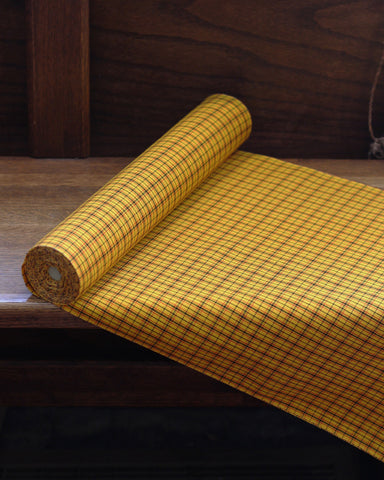 Vintage Fabric Yellow Plaid