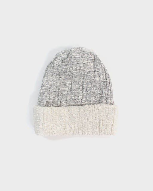 Kobo Oriza Multi Functional Beanie, Cream & Gray