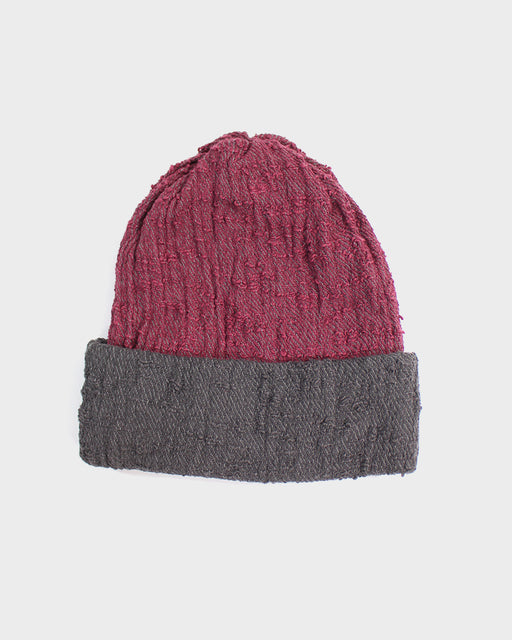 Kobo Oriza Multi Functional Beanie, Red & Grey