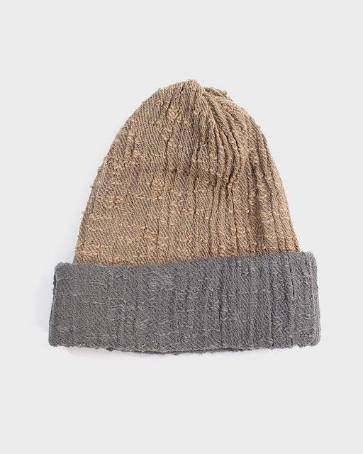 Kobo Oriza Multi Functional Beanie, Tan and Grey