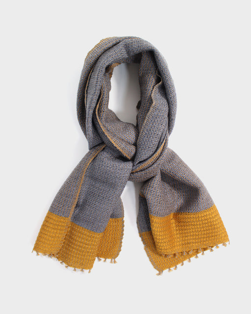 Kobo Oriza, Mojiri Weave, Two Tone Muffler, Yellow
