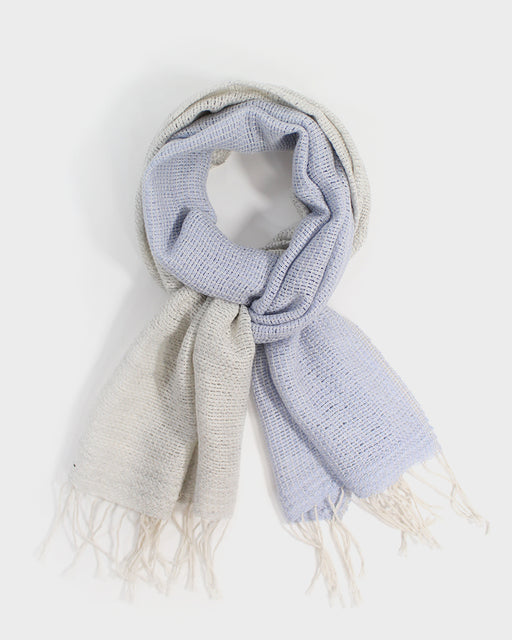 Kobo Oriza Open Weave Scarf, Two-Tone Pearl Blue