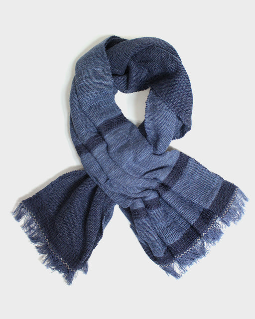 Kobo Oriza, Easy Knot Scarf, Washed Blue