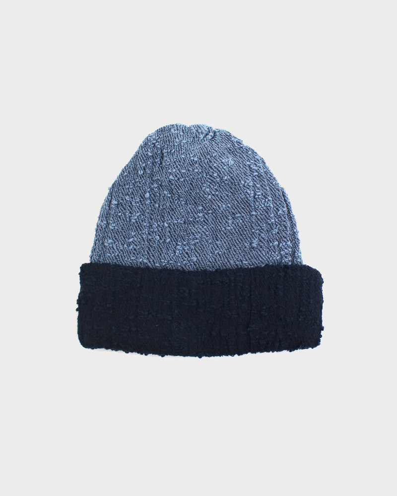 Kobo Oriza Multi Functional Light Blue and Blue Knit Beanie