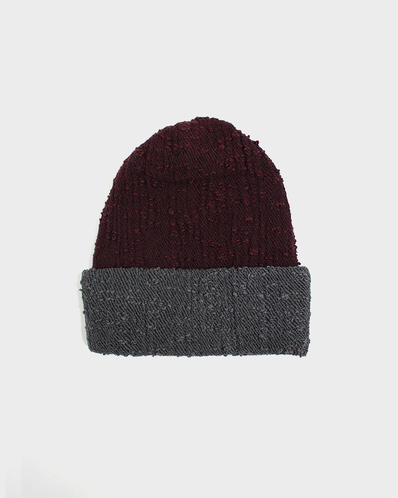 Kobo Oriza Multi Functional Burgundy and Grey Beanie