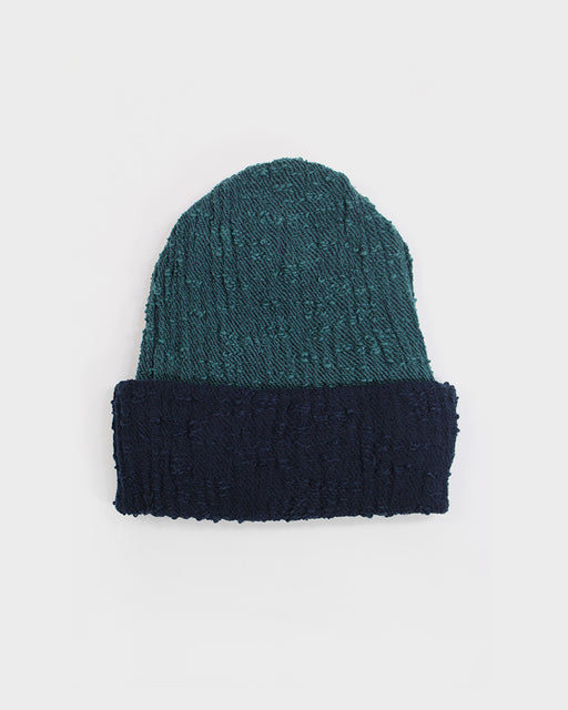 Kobo Oriza Multi Functional Teal and Indigo Knit Beanie